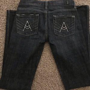 Black Sequin 7 Jeans